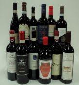 Italian Red Wine: Cafaggio Chianti Classico Riserva 2016; Terredavino Barolo 2015;