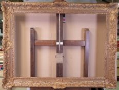 A French 19th Century plaster gilt picture frame, 98 x 128cm Sight size: approximately 71.2 x 103.