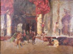 J*** M*** Hugh (European, late 19th/early 20th Century), de Fortuny (Men admiring a nude woman),