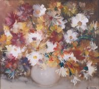 F*** Tonea (20th Century), Still life of flowers, signed 'F Tonea' (lower right), oil on canvas,