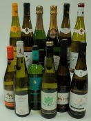 White wine from Alsace: Willm Cremant d'Alsace Brut; Vieil Armand Riesling 2018;