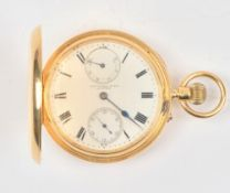 An 18ct gold cased keyless wind hunting cased gentleman's pocket watch,