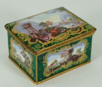 A late 19th century Samson enamel box,