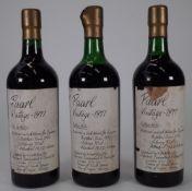 Three bottles of Paarl Vintage 1971 (3).