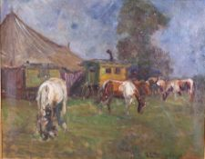 Florence C Metcalfe (British, late 19th/early 20th Century), The Travelling Circus,