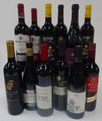 Red Wine from Spain, Israel,
