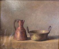 *** Eronimo (European, 20th Century), Still life of a jug and a pot,