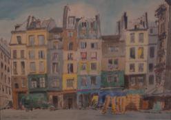 Philip W Davis (British, 20th Century), Paris, Rue Berger, signed 'Philip W Davis' (lower right),