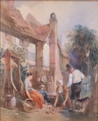 Attributed to Henry Warren (British, 1794-1879), The Gardener's Cottage,