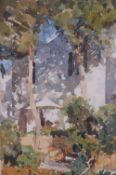 Christopher Bennett (British, 20th Century), Two Trees, Minorca,
