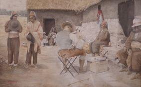 Jose M de Torres (20th Century), A gentleman in a native village settlement,