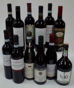 Italian Red Wine: La Palazzetta Brunello di Montalcino 2015; Botticato Valpolicella 2018;