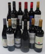 French Red Wine: La Poulardiere Cotes du Rhone 2018; Chateau de Sainte Gemme Haut-Medoc (2 bottles,