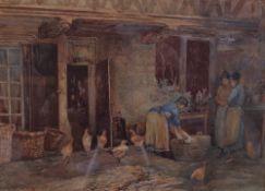 Edgar Leuchars (British, 19th/20th Century), Wash day, signed 'E Leuchars' (lower right),