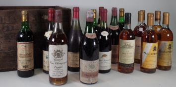 Mixed wines, comprising; three bottles of Chateau Fourreau 1970, two bottles of 1976 Bourgogne,