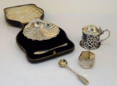 Silver, comprising; a Victorian mustard pot,