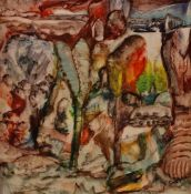 George Cotos (20th Century), Wonderland, signed 'G Cotos' (lower right), mixed media,