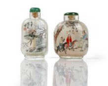 A Chinese inside painted glass snuff bottle, 20th century,