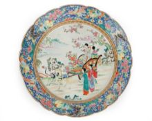 A Japanese porcelain dish, early 20th century,