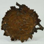 Albert Marionnet, (French 1852 ~ 1910), a patinated bronze platter,