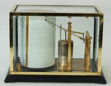 A Short & Mason 'Tycos' barograph, number 20/29, in a glazed brass case, height of drum 20cm,