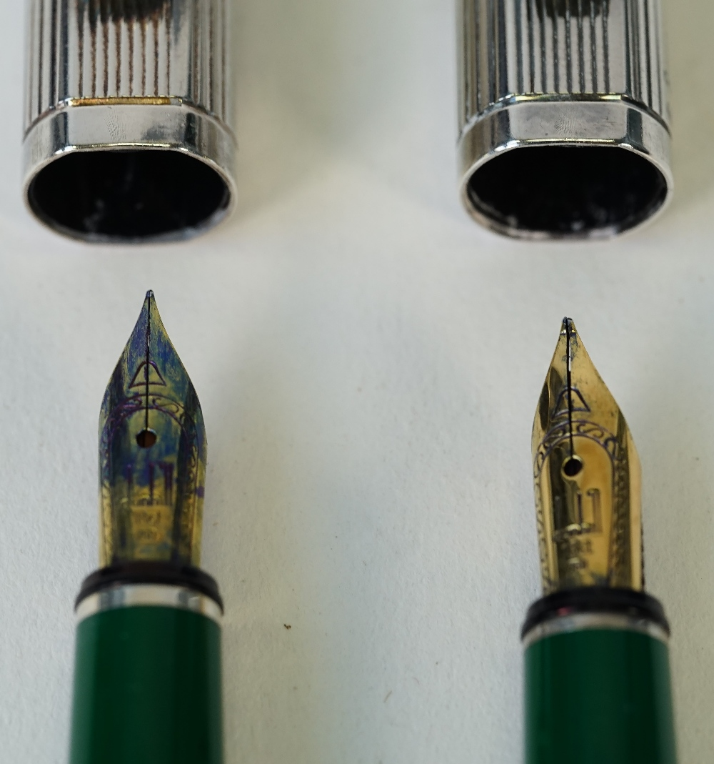 Two Dunhill silver plated fountain pens, - Image 3 of 4