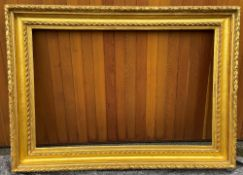A French 19th Century Empire plaster gilt picture frame, 121 x 166cm Sight size: approximately 86.