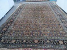 A Khorassan carpet, Persian,