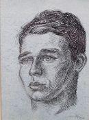 Sigmund Pollitzer (British, 1913-1982), Study of a boy, signed and dated 'Sigmund Pollitzer 27.VI.