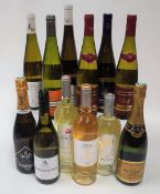 White Wines from Alsace and southern France: Dopff Crémant d'Alsace Brut;