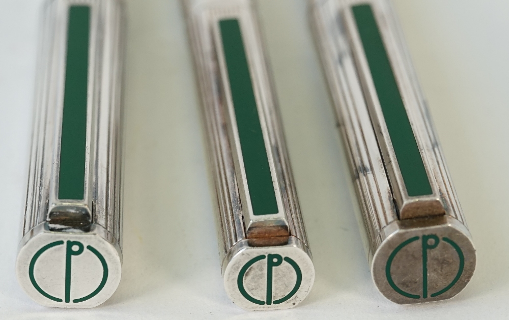 Two Dunhill silver plated fountain pens, - Image 4 of 4