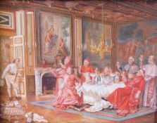 C*** Petil (European, late 19th/early 20th Century), Cardinals drinking champagne,