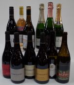 English Sparkling and Still Wine: Lyme Bay Rosé Brut; Bride Valley Brut;