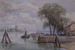 English School, 20th Century, Dordrecht, watercolour,