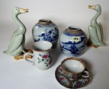 Chinese ceramics, 18th century and later, comprising; a famille-rose mug,