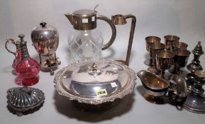 Silver plated wares,