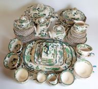 Masons Chartreuse pattern; early 20th century, part dinner / tea service, (qty).