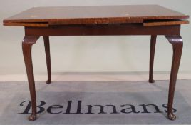 An early 20th century mahogany draw leaf dining table, (a.