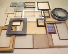A collection of picture frames, some in poor condition, (qty).