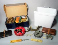 A quantity of fishing equipment to include, a Hardy 'Viscount 150' reel,