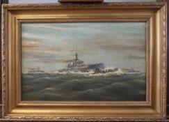 J*** S*** Ellis (British, 20th Century), Naval ships and a submarine,