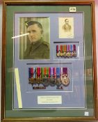 A reconstructed group of awards representing the medal entitlement of Lance Sergeant Laurence