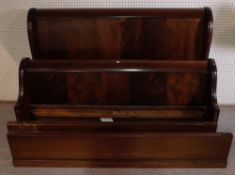 A mahogany double sleigh bed, 163cm wide x 110cm high.