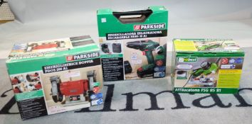 A Parkside 18V electric drill, boxed,
