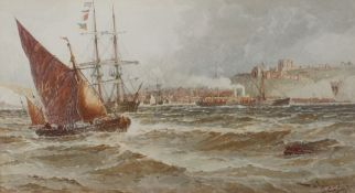 After Thomas Bush Hardy, Leaving Dover; Entering Calais, a pair, reproduction prints, each 17.