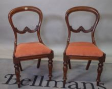 A matched set of eight 19th century mahogany balloon back dining chairs, 45cm wide x 88cm high, (8).