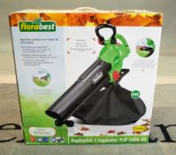 A Florabest electric garden leaf vacuum.