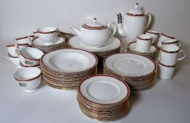 Wedgwood, a modern dinner service with gilt rim decoration and a Wedgwood Colorado part tea service,