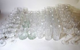 Modern Glassware including; bowls decanters and sundry, (qty).