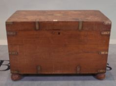 A 19th century camphor wood and brass bound trunk, 87cm wide x 57cm high.